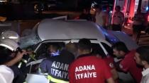 Otomobil Beton Bariyere Çarptı Açıklaması 1 Yaralı