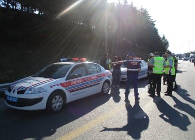 Polisten Arife Günü Drone'li Trafik Uygulaması