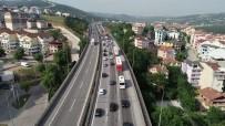 ESKIHISAR - TEM'deki Bayram  Trafiği Havadan Görüntülendi