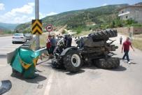 GAZIOSMANPAŞA ÜNIVERSITESI - Tokat'ta Traktör Devrildi Açıklaması 1 Yaralı