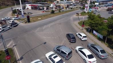 Yozgat'ta Bayram Öncesi Drone İle Trafik Denetimi Yapıldı