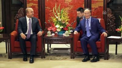 Çavuşoğlu Çin Devlet Başkan Yardımcısı Vang İle Görüştü
