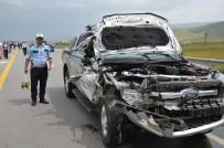 KARAAĞAÇLı - İYİ Parti Mitinginden Dönen Konvoyda Kaza Açıklaması 1 Yaralı