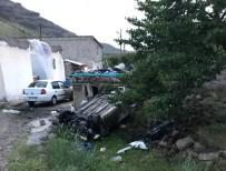 Otomobil Takla Attı Açıklaması 5 Yaralı
