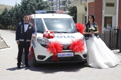 Polis Otosu Gelin Arabası Oldu