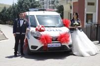 ÇALıKUŞU - Polis Otosu Gelin Arabası Oldu