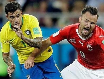 Brezilya'dan tatsız başlangıç! Brezilya 1-1 İsviçre maç sonucu