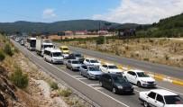 KıZıLAĞAÇ - Dönüş Yolunda 5 Kilometrelik Kuyruklar Oluştu
