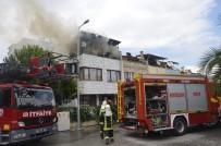 ÇATI KATI - Dubleks Evin Çatı Katı Yangında Kullanılamaz Hale Geldi