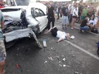 ZİNCİRLEME KAZA - Balıkesir'de Zincirleme Kaza Açıklaması 9 Yaralı