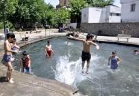 Çocuklar 'süs havuzu' sezonunu açtı