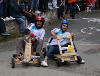 TAHTA ARABA - Rize'de 'Lazralli Tahta Araba Yarışları' Nefes Kesti