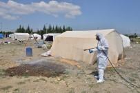 MUTTALIP - Tarım İşçilerinin Çadırları İlaçlanıyor