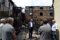 SAMANLıK - Vali Baruş, Yangınzede Aileleri Ziyaret Etti