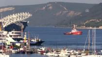 ÇANAKKALE BOĞAZı - Dünyanın En Büyük İnşaat Gemisi Çanakkale Boğazı'ndan Geçti