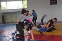 KıLıÇARSLAN - Genç Kadınlar Güreş Milli Takımı Yalova'da Kampa Girdi