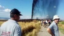 Kahramanmaraş'ta Kepçenin Çarptığı Boru Hattından Petrol Fışkırıyor