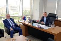 İŞ BANKASı - Vali Kamçı'dan İş Bankası Ve Karayolları Bölge Müdürlüğüne Ziyaret