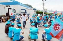 TÜRK METAL SENDIKASı - Demir Çelik Fabrikası İşçileri Greve Çıktı