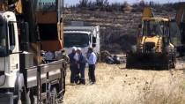 BORU HATTI - Kahramanmaraş'ta Kepçenin Çarptığı Boru Hattını Delmesi