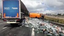 GAZILER - Meşrubat Yüklü Tır Temizlik Aracına Çarptı Açıklaması 1 Yaralı