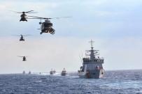 KUZEY KıBRıS TÜRK CUMHURIYETI - Türk Donanması Akdeniz Açıklarında Gövde Gösterisi Yaptı