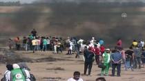 SAĞLIK ÇALIŞANI - İsrail Askerleri Gazze Sınırında 14 Filistinliyi Yaraladı