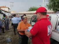 ALSANCAK - Kızılay'dan Sel Mağdurlarına Yardım