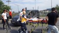YAKIT TANKERİ - Yakıt Tankeri İle Hafif Ticari Araç Çarpıştı Açıklaması 1'İ Ağır 3 Yaralı