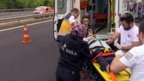 Anadolu Otoyolu'nda Trafik Kazası Açıklaması 1 Ölü, 8 Yaralı