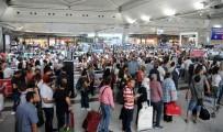 UÇAK BİLETİ - Atatürk Havalimanı'nda Seçim Yoğunluğu