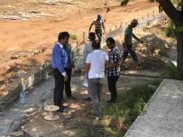 BUZ PATENİ - Başkan Asya, Yapım Çalışmaları Devam Eden Göletli Parkta İncelemelerde Bulundu