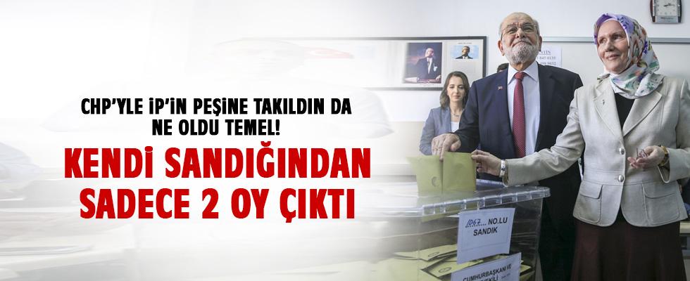 Temel Karamollaoğlu'na oy kullandığı sandıktan büyük şok!