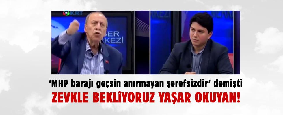 'MHP barajı geçsin Tandoğan'da anırırım' demişti