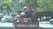 SANI KONUKOĞLU - Gaziantep'te Engelli Motosikletinde Tehlikeli Yolculuk