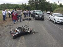 SAĞLIK EKİPLERİ - Kazada Yaralanan Motosiklet Sürücüsü Hayata Tutunamadı