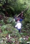 Ordu'da Uçuruma Uçan Patpat Ağaçlara Takıldı