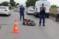 HACıRAHMANLı - Manisa'da Motosiklet Kazası Açıklaması 1 Ölü