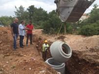AKBÜK - Akbük'te Kanalizasyon Çalışmaları Devam Ediyor