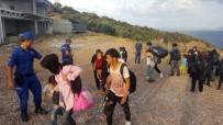 BADEMLI - Çanakkale'de 75 Kaçak Göçmen Yakalandı