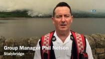 MANCHESTER - İngiltere'de aşırı sıcaklar yangına neden oldu