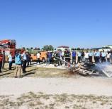 YANGIN TÜPÜ - Cezaevinde Yangın Tatbikatı Yapıldı
