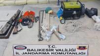 Havran'da Kaçak Kazı Yapanlara Jandarmadan Suçüstü