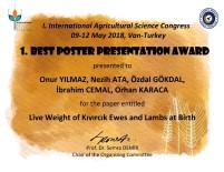 ADNAN MENDERES ÜNIVERSITESI - 'En İyi Poster' Ödülü ADÜ'ye
