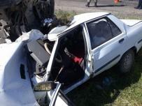 Tutak'ta Trafik Kazası Açıklaması 2 Ölü, 3 Yaralı