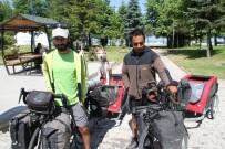 BANKA KREDİSİ - Köpekleriyle Türkiye Turuna Çıkan 2 Bisikletsever Beyşehir'de Mola Verdi