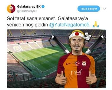 Galatasaray Nagatomo'yı KAP'a Bildirdi