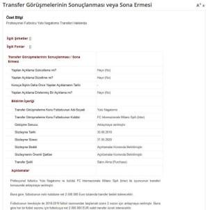 Galatasaray Nagatomo'yu KAP'a Bildirdi