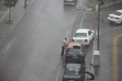 Karabük'te Dolu Ve Yağmur Hayatı Felç Etti