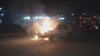 KÖSEKÖY - LPG'li Araç Benzin Koyunca Alev Alev Yandı
